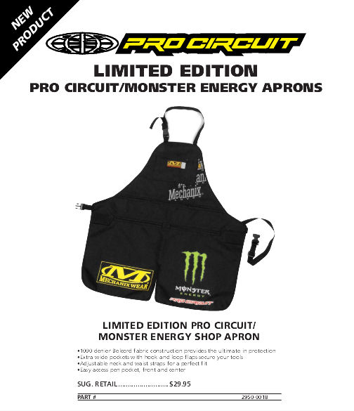 LIMITED EDITION PRO CIRCUIT/MONSTER ENERGY APRONS